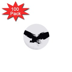 Grunge Bird 1  Mini Button (100 Pack)