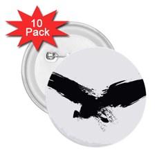Grunge Bird 2.25  Button (10 pack)