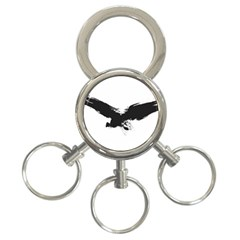 Grunge Bird 3 Ring Key Chain