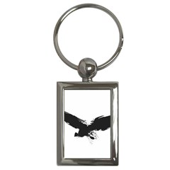 Grunge Bird Key Chain (Rectangle)