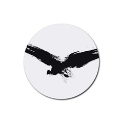 Grunge Bird Drink Coaster (Round)