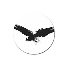Grunge Bird Magnet 3  (round)