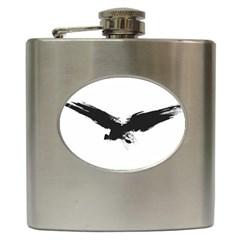 Grunge Bird Hip Flask