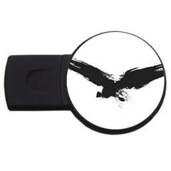 Grunge Bird 1GB USB Flash Drive (Round)