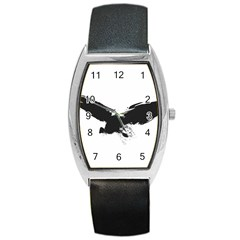 Grunge Bird Tonneau Leather Watch