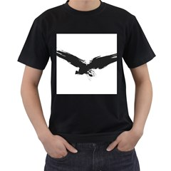 Grunge Bird Mens' Two Sided T Shirt (black)