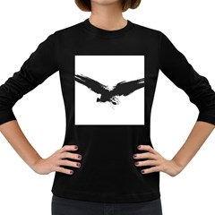 Grunge Bird Womens' Long Sleeve T-shirt (Dark Colored)