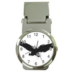 Grunge Bird Money Clip with Watch