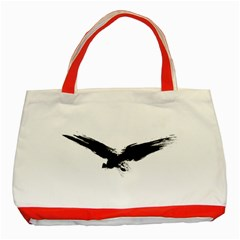 Grunge Bird Classic Tote Bag (red)