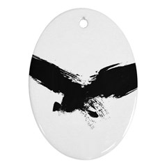 Grunge Bird Oval Ornament (Two Sides)