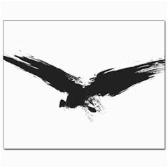 Grunge Bird Canvas 8  X 10  (unframed)