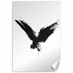 Grunge Bird Canvas 12  X 18  (unframed)
