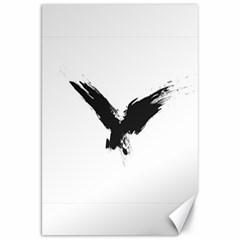Grunge Bird Canvas 20  X 30  (unframed)