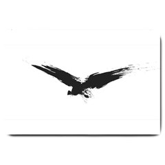 Grunge Bird Large Door Mat