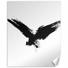 Grunge Bird Canvas 11  x 14  9 (Unframed)