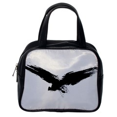 Grunge Bird Classic Handbag (one Side)