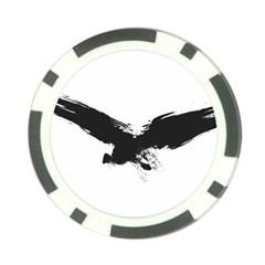 Grunge Bird Poker Chip 10 Pack