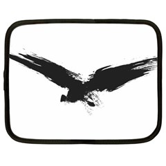 Grunge Bird Netbook Case (XL)