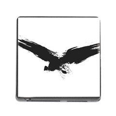 Grunge Bird Memory Card Reader with Storage (Square)