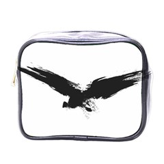 Grunge Bird Mini Travel Toiletry Bag (one Side)