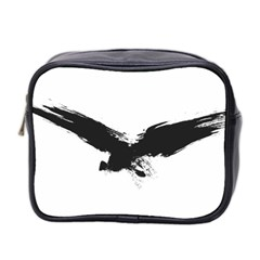 Grunge Bird Mini Travel Toiletry Bag (two Sides)