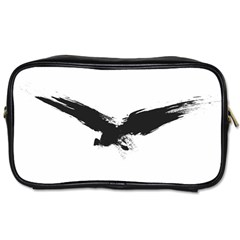 Grunge Bird Travel Toiletry Bag (Two Sides)