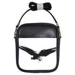 Grunge Bird Girl s Sling Bag