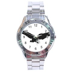 Grunge Bird Stainless Steel Watch (men s)