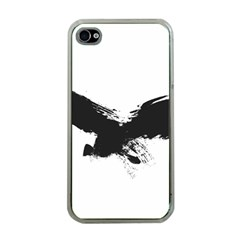 Grunge Bird Apple iPhone 4 Case (Clear)