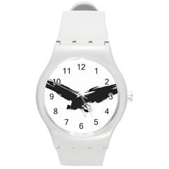 Grunge Bird Plastic Sport Watch (Medium)
