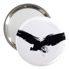 Grunge Bird 3  Handbag Mirror