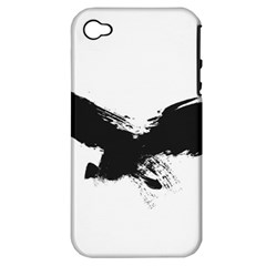Grunge Bird Apple iPhone 4/4S Hardshell Case (PC+Silicone)