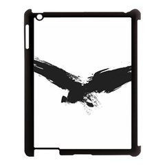 Grunge Bird Apple iPad 3/4 Case (Black)
