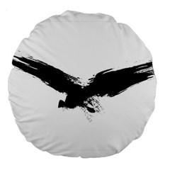 Grunge Bird 18  Premium Round Cushion