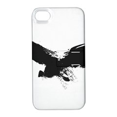 Grunge Bird Apple iPhone 4/4S Hardshell Case with Stand