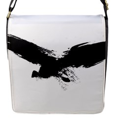 Grunge Bird Flap closure messenger bag (Small)