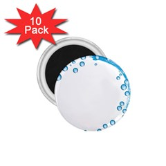 Water Swirl 1 75  Button Magnet (10 Pack)