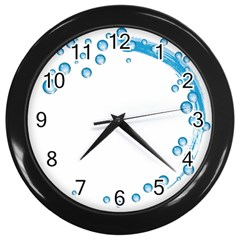 Water Swirl Wall Clock (Black)