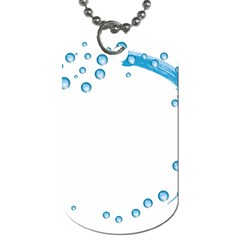 Water Swirl Dog Tag (One Sided)