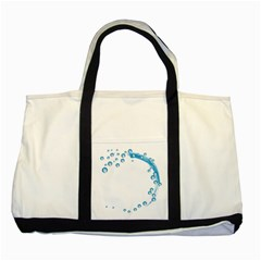 Water Swirl Two Toned Tote Bag
