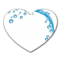 Water Swirl Mouse Pad (Heart)