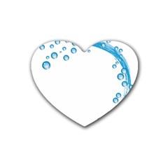 Water Swirl Drink Coasters (Heart)