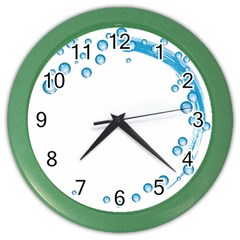 Water Swirl Wall Clock (Color)