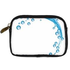Water Swirl Digital Camera Leather Case
