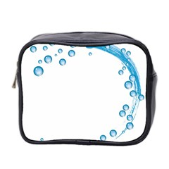 Water Swirl Mini Travel Toiletry Bag (Two Sides)