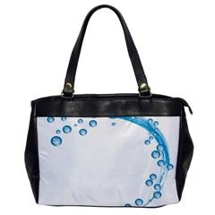 Water Swirl Oversize Office Handbag (One Side)