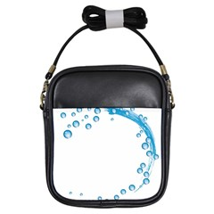 Water Swirl Girl s Sling Bag