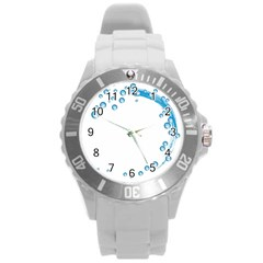 Water Swirl Plastic Sport Watch (large)
