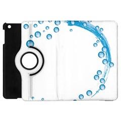 Water Swirl Apple Ipad Mini Flip 360 Case