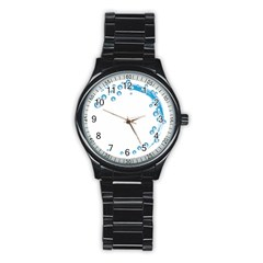 Water Swirl Sport Metal Watch (Black)